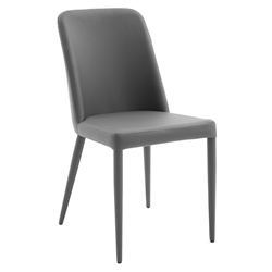 Maya Anthracite Modern Dining Side Chair by Pezzan