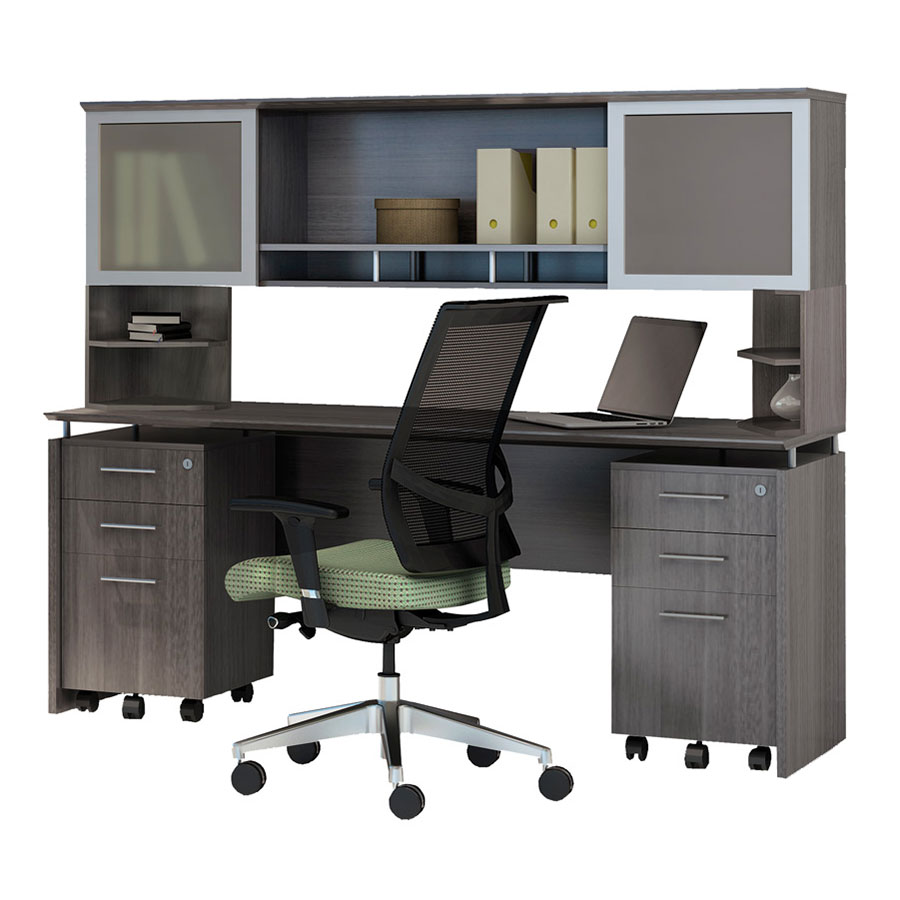 Maya Hutch w/ Supports + Narrow Desk