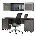 Maya Wall Mount Hutch + Narrow Desk