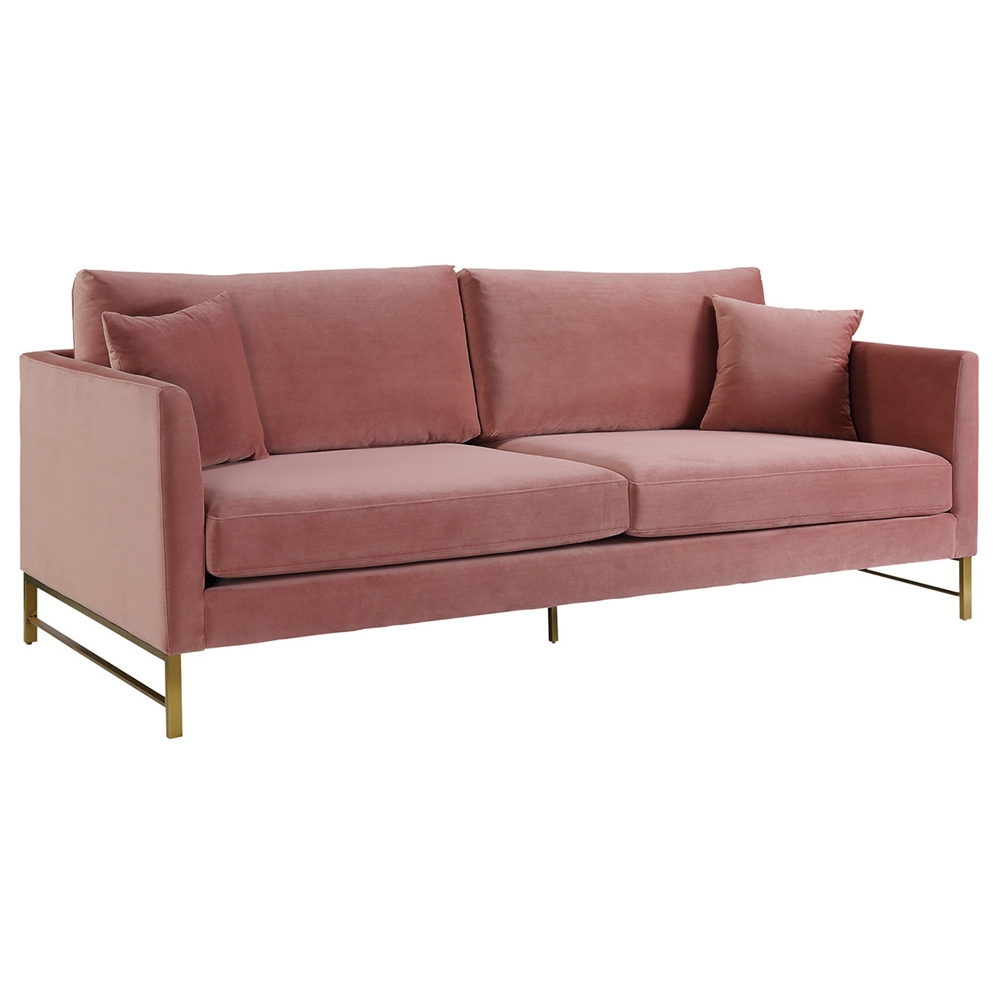 Call To Order Mazyr Rose Velvet Modern Sofa