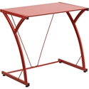 Red Mazzoni Contemporary Desk