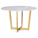 McKenzie Modern Marble + Gold Dining Table