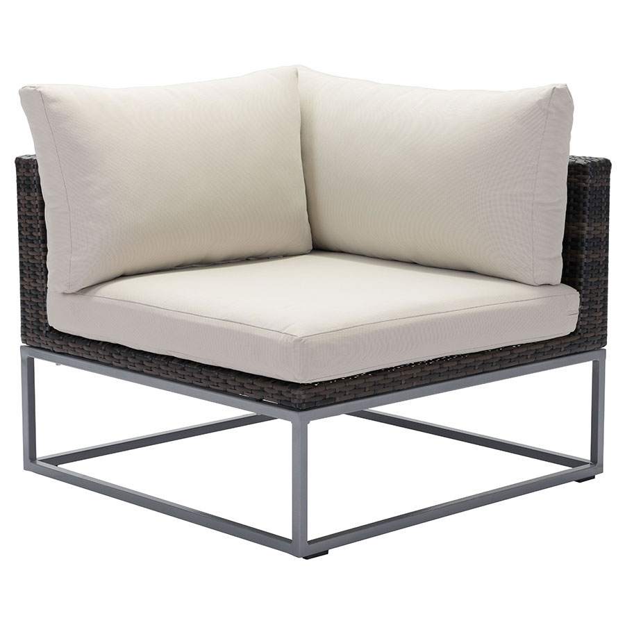 Meachem Modern Outdoor Corner Chair Eurway Furniture