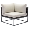 Meachem Modern Outdoor Corner Chair + Sectional Sofa Unit