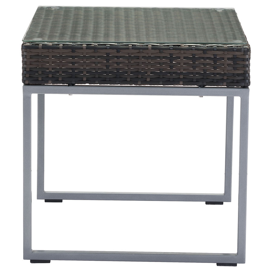 meachem tempered glass top modern outdoor side table . meachem modern outdoor side table  eurway furniture