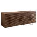 Meander Walnut + Steel Modern Buffet