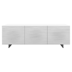 Meander White + Steel Modern Buffet