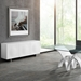 Meander White Lacquer + Steel Base Modern Sideboard - Lifestyle