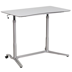 Medford Modern Lift Desk - Front View, Lowered Top
