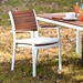 Medina Contemporary White Outdoor Dining Chair