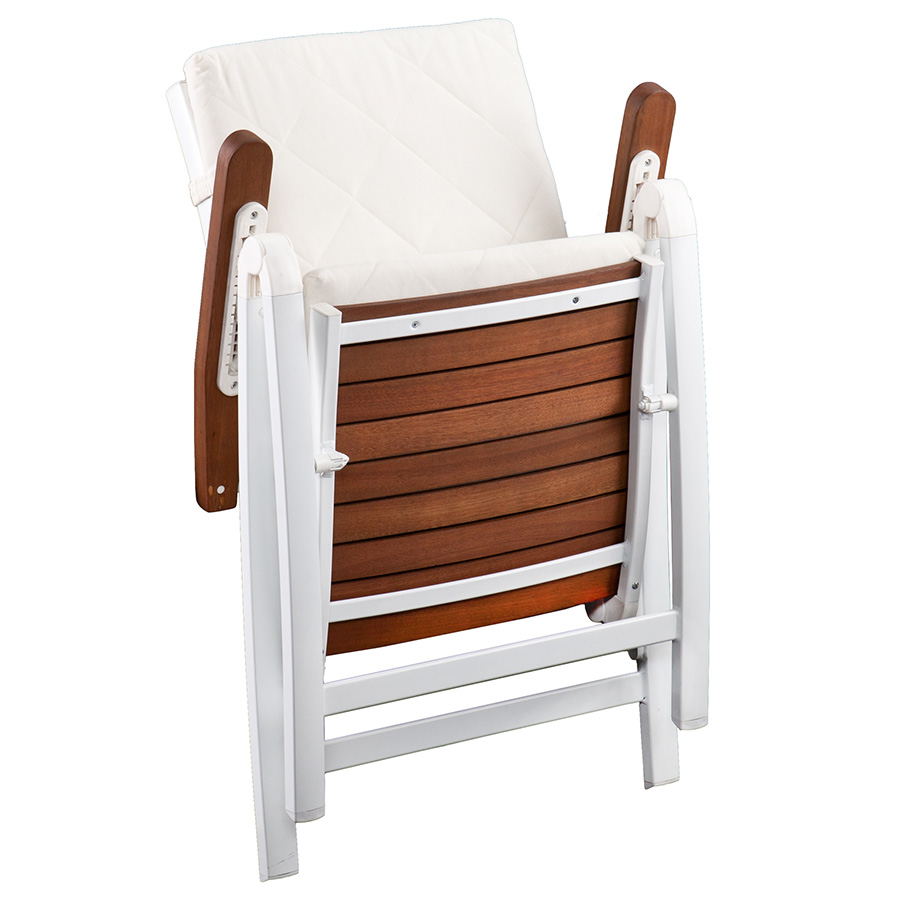 Medina Modern White Outdoor Folding Chair Eurway