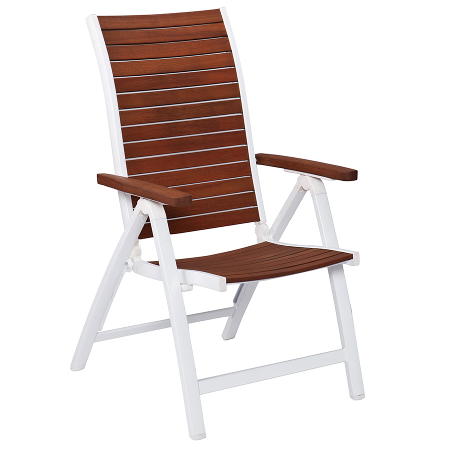 Outdoor foldable chairs - Medina Modern White Outdoor Folding Chair Eurway