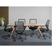 Megan Modern Black Office Chairs by Euro Style