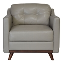 Melanie Modern Gray Top Grain Leather Chair