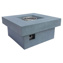 Melbourne Modern Outdoor Square Propane Fire Pit