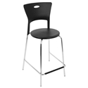 Melody Black Modern Counter Stool