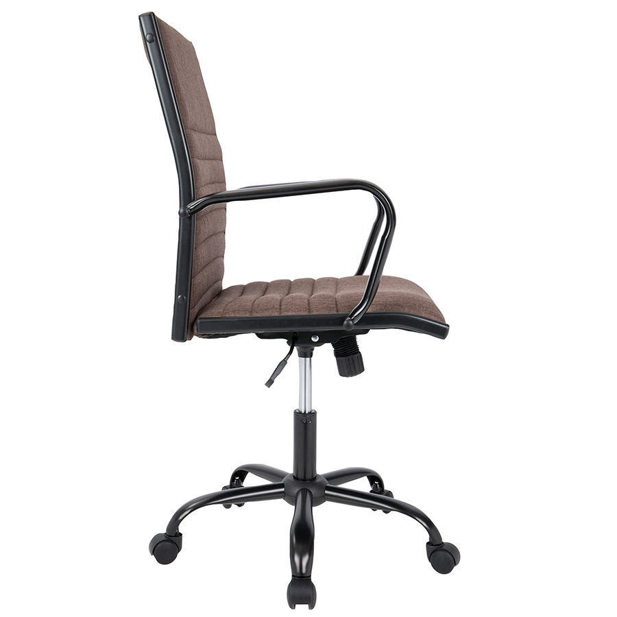 Mencken Brown Fabric Modern Office Chair