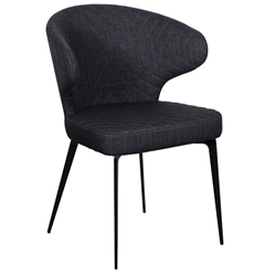 Menefer Modern Charcoal Fabric Arm Chair by Euro Style