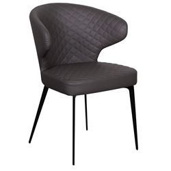 Menefer Gray Faux Leather Arm Chair by Euro Style