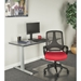 Mercedes Contemporary Red Fabric Office Chair