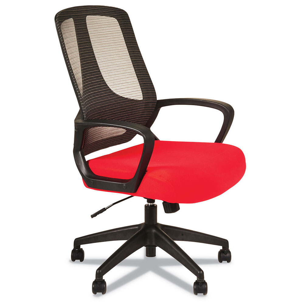 Mercedes Modern Red Fabric Office Chair