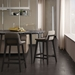Modloft Mercer Modern Bar Stool in Castle Gray Faux Leather with Seared Ash Wood Base - Lifestyle