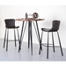 Mercer Contemporary Gray Bar Height Stools