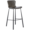 Mercer Modern Bar Stool in Dark Gray
