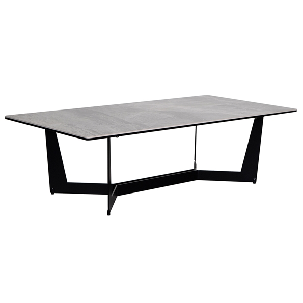 Mercury Modern Ceramic Glass Coffee Table