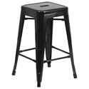 Metro Backless Black Industrial Counter Stool
