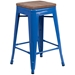 Metro Backless Blue Industrial Modern Counter Stool