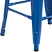 Metro Backless Blue Industrial Modern Counter Stool - Leg Detail