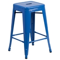 Metro Backless Blue Industrial Counter Stool