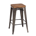 Metro Modern Backless Gun Metal Counter Stool