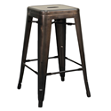 Metro Gun Metal Backless Modern Counter Stool