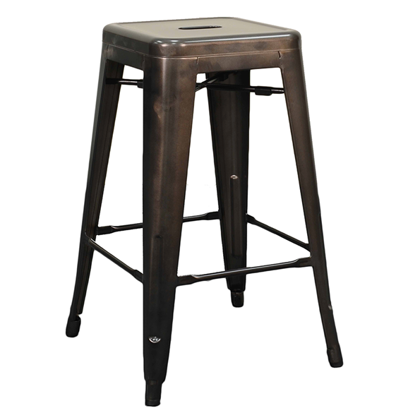 Metro Backless Metal Gun Metal Counter Stool