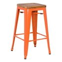 Metro Modern Backless Orange Counter Stool