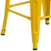 Metro Backless Yellow Industrial Modern Counter Stool - Leg Detail