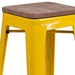 Metro Backless Yellow Industrial Modern Counter Stool - Seat Detail