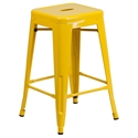 Metro Backless Yellow Industrial Counter Stool