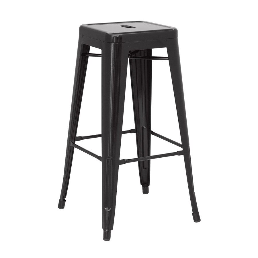 Metro Modern Backless Metal Black Counter Stool