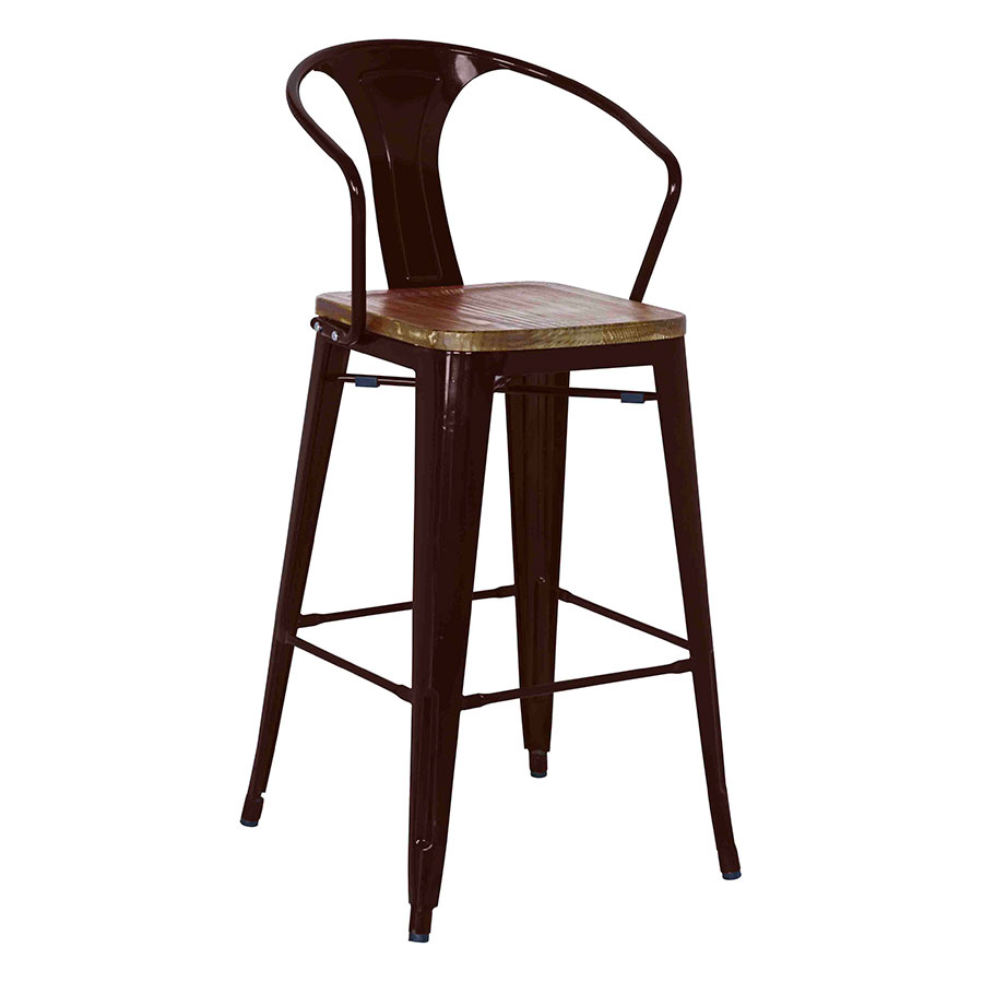 Metro Modern Black Bar Stool