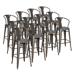 Metro Gun Metal Modern Bar Stool Cheaper by the Dozen