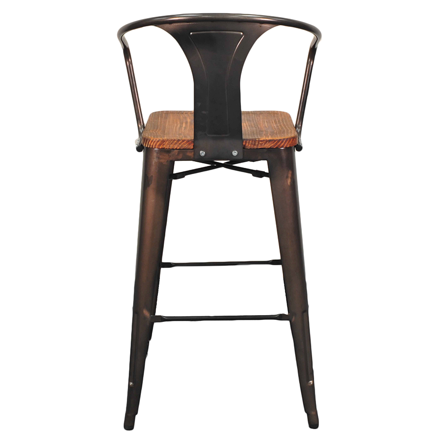 Cafe tables and chairs png -  Metro Gun Metal Wood Modern Industrial Bar Chair