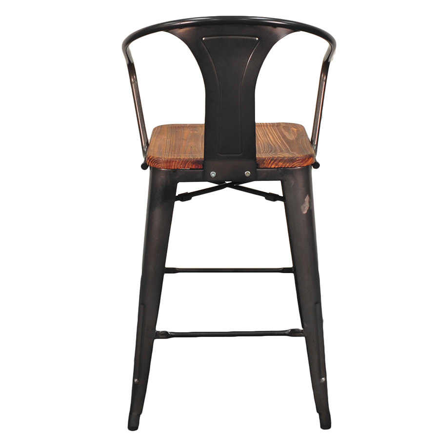metro gun metal  wood modern industrial counter chair. metro modern gun metal  wood counter stool  eurway