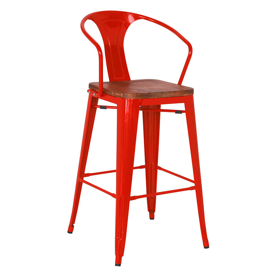 Metro Modern Red Counter Stool