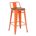 Metro Modern Low Back Orange Counter Stoold