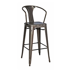 Metro Metal Modern Gun Metal Bar Stool