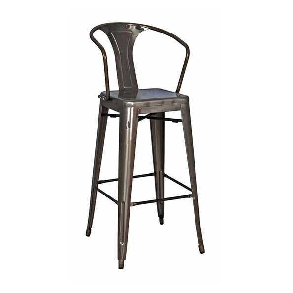 Metro Modern Metal Gun Metal Bar Stool