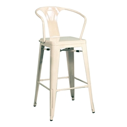 Metro Modern White Metal Counter Stool
